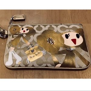 Handbags - AUTHENTIC COACH POPPY CHAN GOLDY WRISTLET
